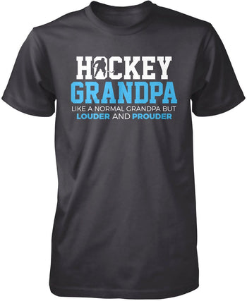 Loud and Proud Hockey (Nickname) - Blue - T-Shirt - Premium T-Shirt / Dark Heather / S