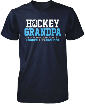 Loud and Proud Hockey (Nickname) - Blue - T-Shirt - Premium T-Shirt / Navy / S