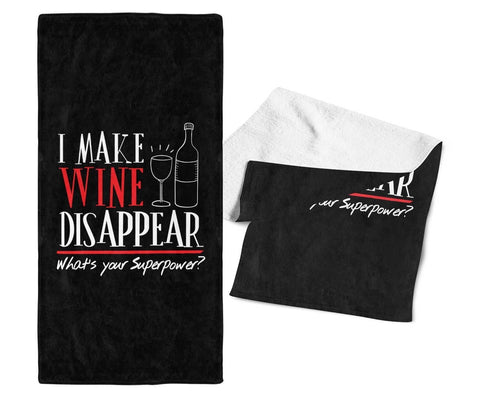 I Make Wine Disappear - Bar Towel - Towels