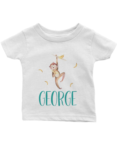 Jungle Monkey - Personalized Infant & Toddler T-Shirt