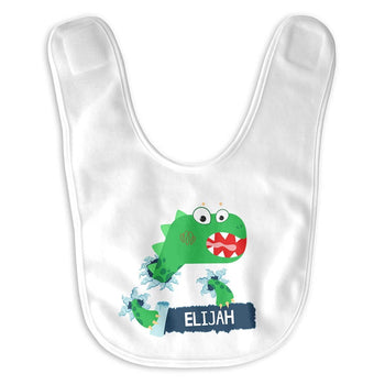 Jurassic Dinosaur Personalized Infant Baby Bib