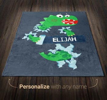 Jurassic Dinosaur - Personalized Blanket - [variant_title]