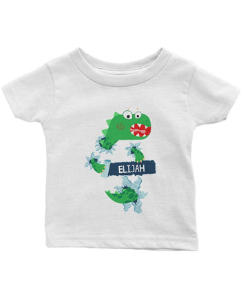 Jurassic Dinosaur - Personalized Infant & Toddler T-Shirt