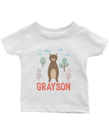 Woodland Bear - Personalized Infant & Toddler T-Shirt