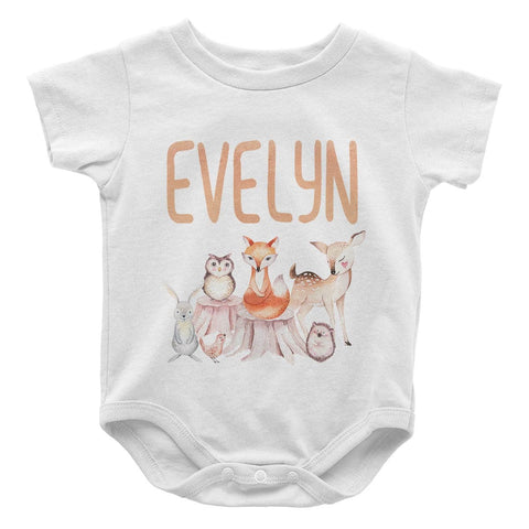 Woodland Friends - Personalized Baby Bodysuit
