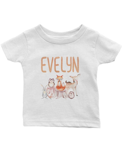 Woodland Friends - Personalized Infant & Toddler T-Shirt