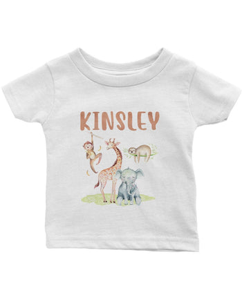 Safari Friends - Personalized Infant & Toddler T-Shirt