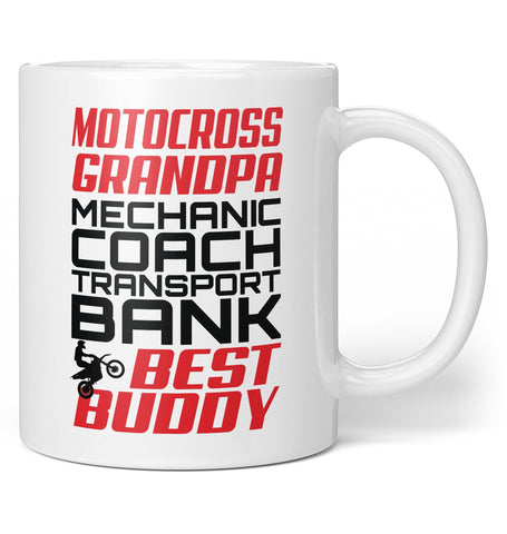 Jobs of a Motocross Grandpa - Coffee Mug / Tea Cup