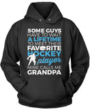 Favorite Hockey Player - Mine Calls Me Grandpa Pullover Hoodie Sweatshirt