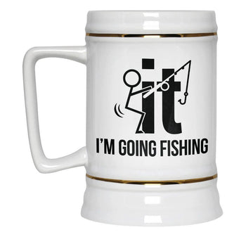 F-It I'm Going Fishing - Beer Stein - Beer Steins