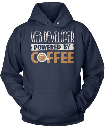 Web Developer Powered By Coffee - Pullover Hoodie / Navy / S