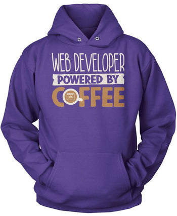 Web Developer Powered By Coffee - Pullover Hoodie / Purple / S