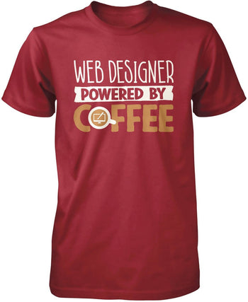 Web Designer Powered By Coffee - Premium T-Shirt / Cardinal / S