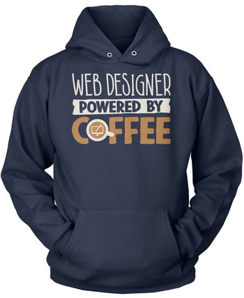 Web Designer Powered By Coffee - Pullover Hoodie / Navy / S