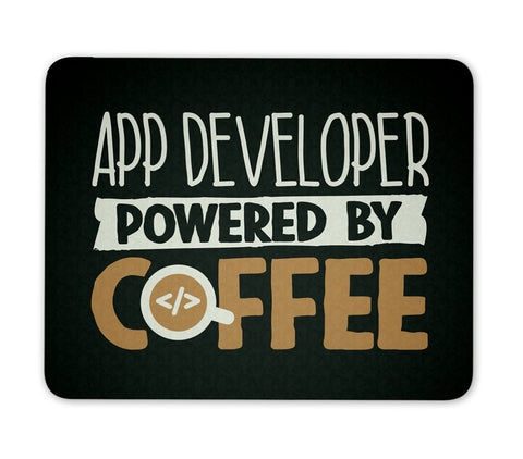 App Developer Powered By Coffee - Mouse Pad