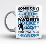 Favorite Hockey Player - Mine Calls Me Grandpa - Mug