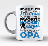 Favorite Hockey Player - Mine Calls Me Opa - Mug