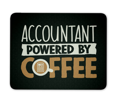 Accountant Powered By Coffee - Mouse Pad