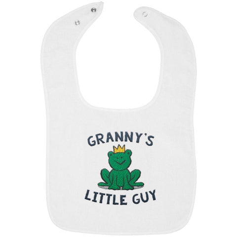 Granny's Little Guy - Embroidered Infant Bib