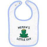 Memaw's Little Guy - Embroidered Infant Bib