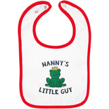 Nanny's Little Guy - Embroidered Infant Bib