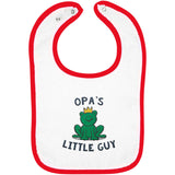 Opa's Little Guy - Embroidered Infant Bib
