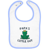 Papa's Little Guy - Embroidered Infant Bib