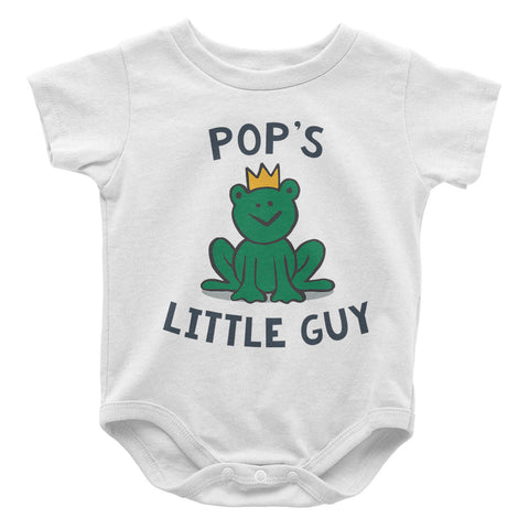 Pop's Little Guy - Baby Onesie