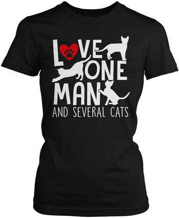 Love One Man and Several Cats Women's Fit T-Shirt