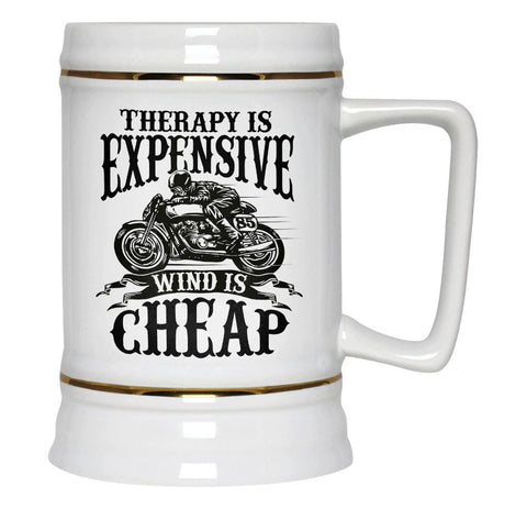 Therapy Is Expensive, Wind Is Cheap - Beer Stein