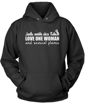 Love One Woman and Several Planes Pullover Hoodie Sweatshirt