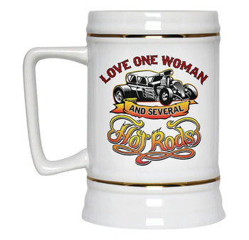Love One Woman and Several Hot Rods - Beer Stein - [variant_title]