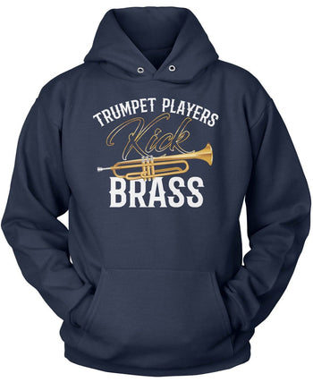 Trumpet Players Kick Brass - Pullover Hoodie / Navy / S