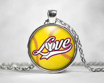 Love Softball - Pendant Necklace