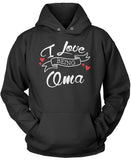 I Love Being Oma Pullover Hoodie Sweatshirt