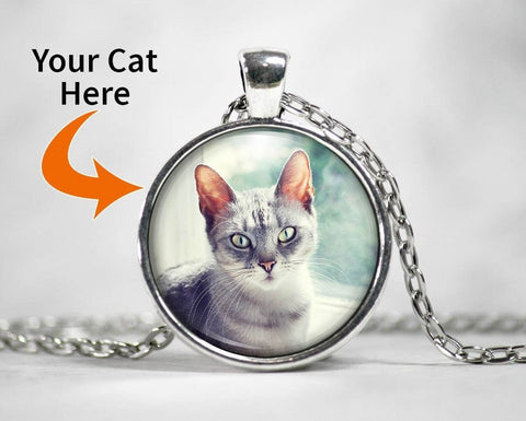 Customizable Pendant Necklace with Your Cat - Necklaces