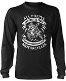 Only the Coolest Poppys Ride Motorcycles Longsleeve T-Shirt