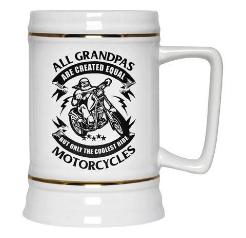 Only the Coolest Grandpas Ride Motorcycles - Beer Stein