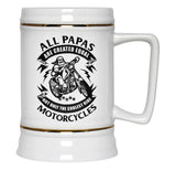 Only the Coolest Papas Ride Motorcycles - Beer Stein