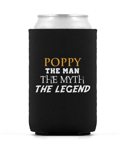 Poppy The Man Myth Legend - Can Cooler