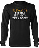 Gramps The Man Myth Legend Long Sleeve T-Shirt
