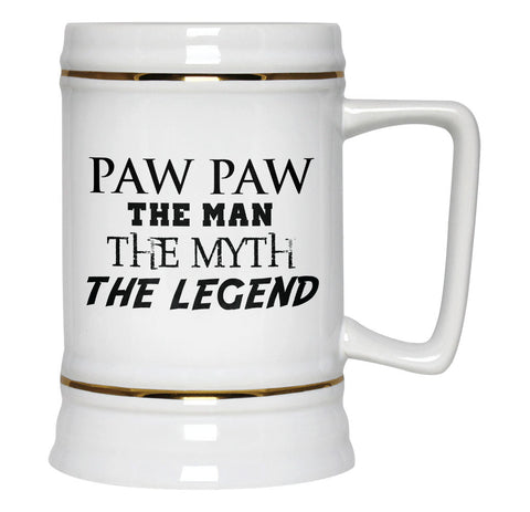 Paw Paw The Man Myth Legend - Beer Stein