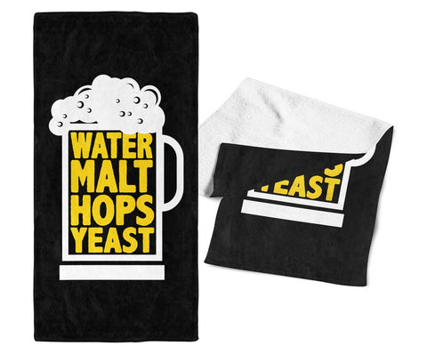 Water Malt Hops Yeast - Bar Towel
