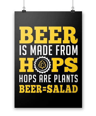Beer Equals Salad - Poster - Posters