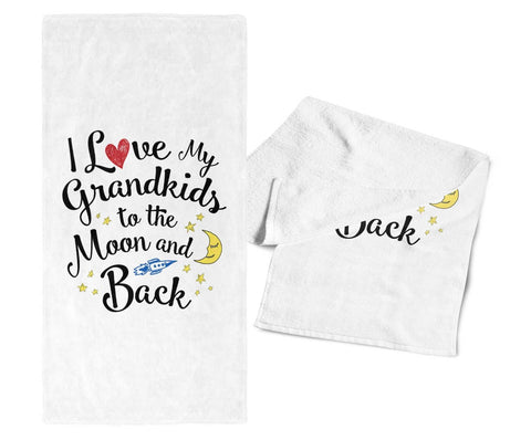 Love my Grandkids to the Moon and Back - Gym / Kitchen Towel