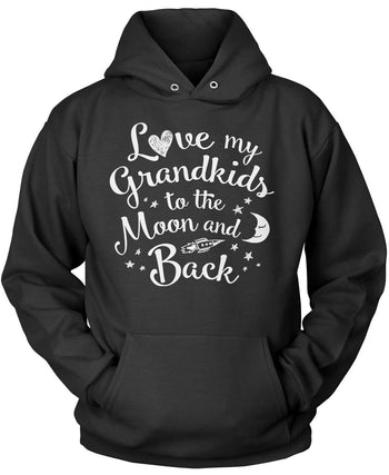 Love my Grandkids to the Moon and Back - Pullover Hoodie / Black / S