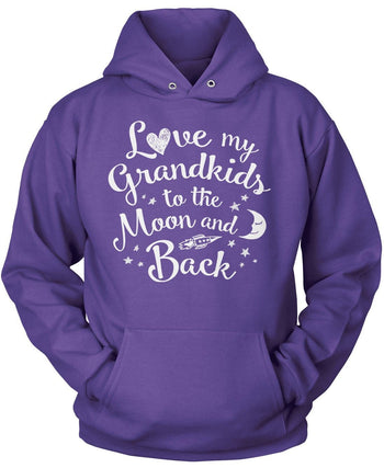 Love my Grandkids to the Moon and Back - Pullover Hoodie / Purple / S