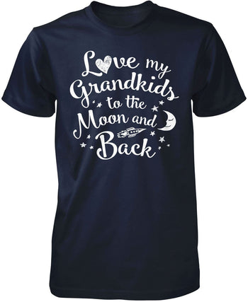 Love my Grandkids to the Moon and Back - Premium T-Shirt / Navy / S