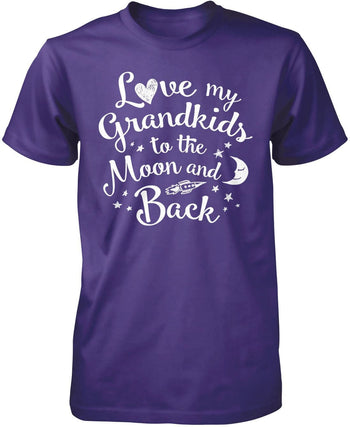 Love my Grandkids to the Moon and Back - Premium T-Shirt / Purple / S