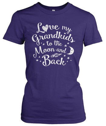 Love my Grandkids to the Moon and Back - Women's Fit T-Shirt / Purple / S